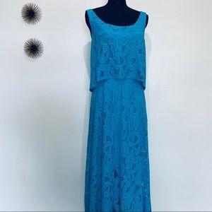 Beautiful Lace shelf top maxi dress